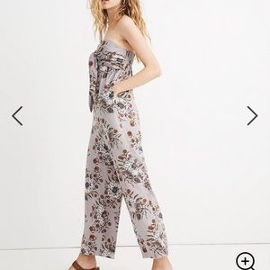 Madewell Strapless Tie-Front Jumpsuit NWT